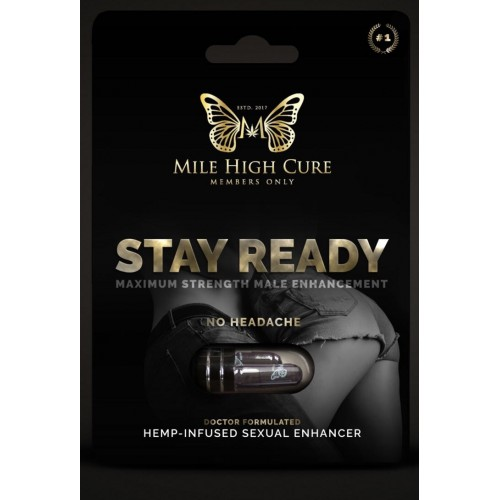 """Mile High Cure """"Stay Ready"""" Male Enhancement Capsules"""